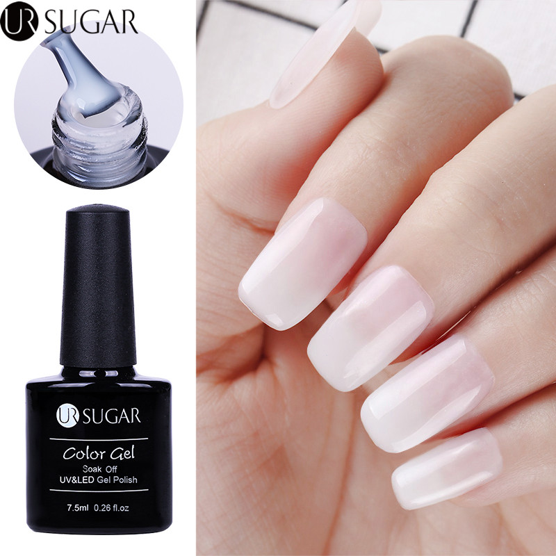 UR SUGAR Opal Jelly Gel Polish 7.5ml White Soak Off UV Gel