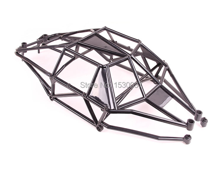 New Rovan Baja Internal Roll Bar, Cage, HPI 5T 5SC Terminator KM T1000 1/5 Truck Free shipping rovan baja alloy roll cage in black 95003