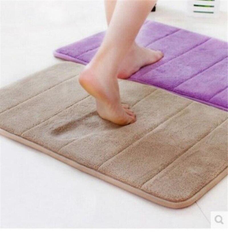 40 60cm Absorbent Bath Mats Soft Memory Foam Door Floor