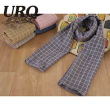 2016 Autumn New Design Children Plaid Scarf Winter Warm Cotton Linen Blend Kids Scarves Tartan Foulard