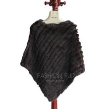 Женские меховые шапки из натуральной кроличьей шерсти, пальто ручной работы, пончо, зимнее теплое пальто, пушистая мягкая Праздничная шаль, Кофейный Серый