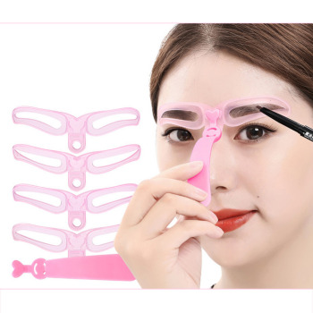 4 Pieces Reusable Eyebrow Model Template Eyebrow Shaper Defining Stencils Makeup Tools Balance Tattoo Stencil Template