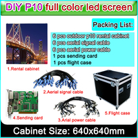 2019 popular Best selling P10 led display panel outdoor smd3535 advertising big screen