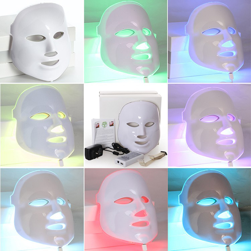 7 Colors Light PDT Photon Therapy LED Face Mask Skin Rejuvenation Wrinkle Acne Removal Anti-Aging SPA Facial Beauty Machine 4color pdt led light therapy machine face beauty photodynamic lamp acne wrinkle remove skin rejuvenation spa ageless pdt therapy