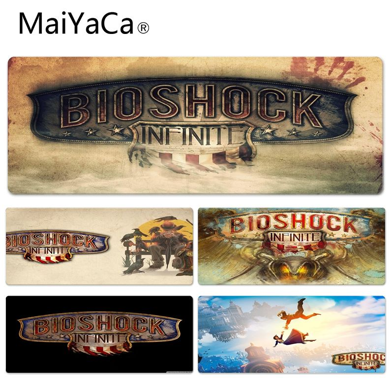 MaiYaCa Cool New Bioshock Infinite Silicone Pad to Mouse Game Size for 30x90cm 40x90cm Rubber Rectangle Mousemats