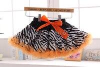 Diseño de la cebra de la muchacha pettiskirts mullidos del bebé del tutú faldas de las muchachas de la falda festival saias ST141111
