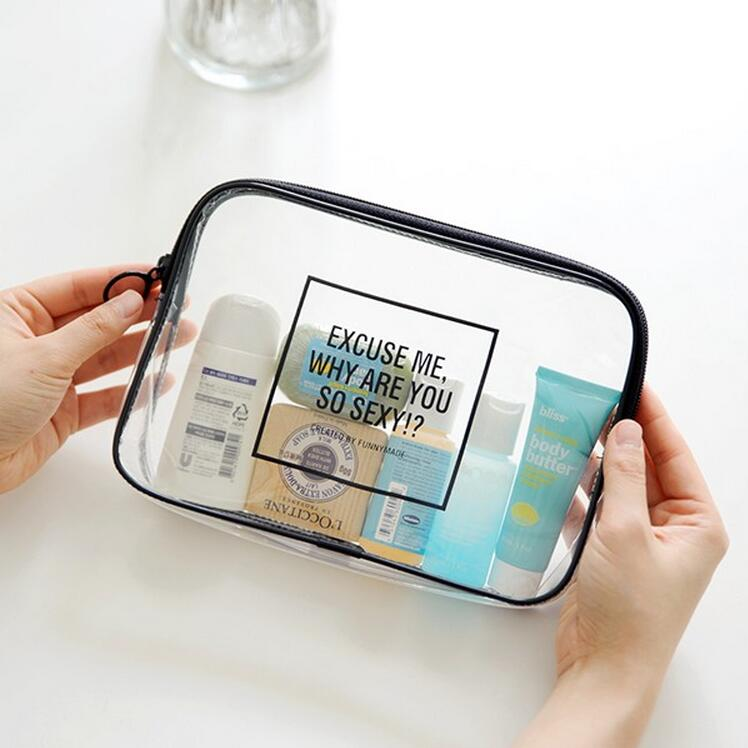 PVC Transparent Mini Cosmetic Organizer Bag Waterproof Clear Pouch Makeup Bags Cosmetic Beauty Accessories Supplies Products