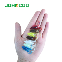 JOHNCOO Trout Lure 10pcs 35mm 0.75g Silicone bait Fishing Pesca and Artificial for Soft Swimbait