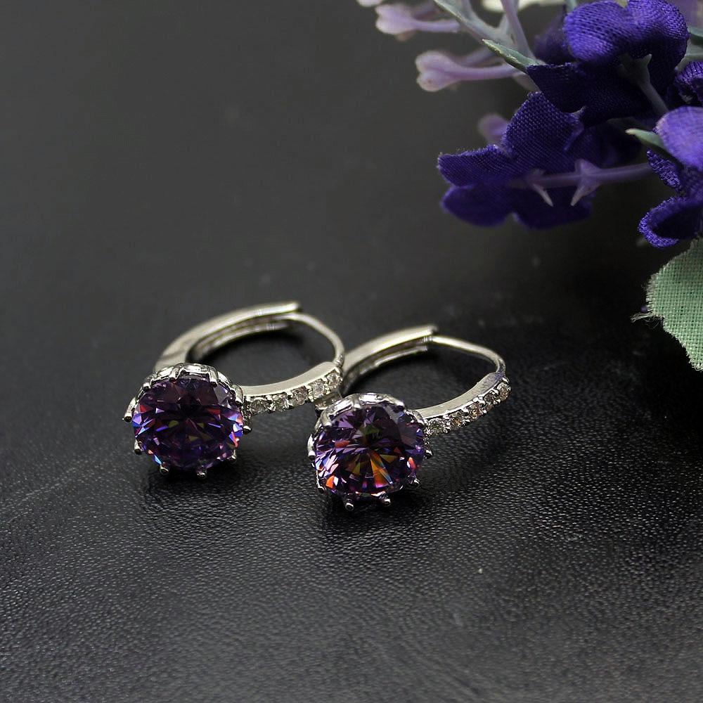d2d0982ec2c5e HERMOSA Elegant Gift Pretty Cute Birthstone Style 925 Sterling Silver Stud  Earrings 3 4 Inch Womens Fashion Jewelry