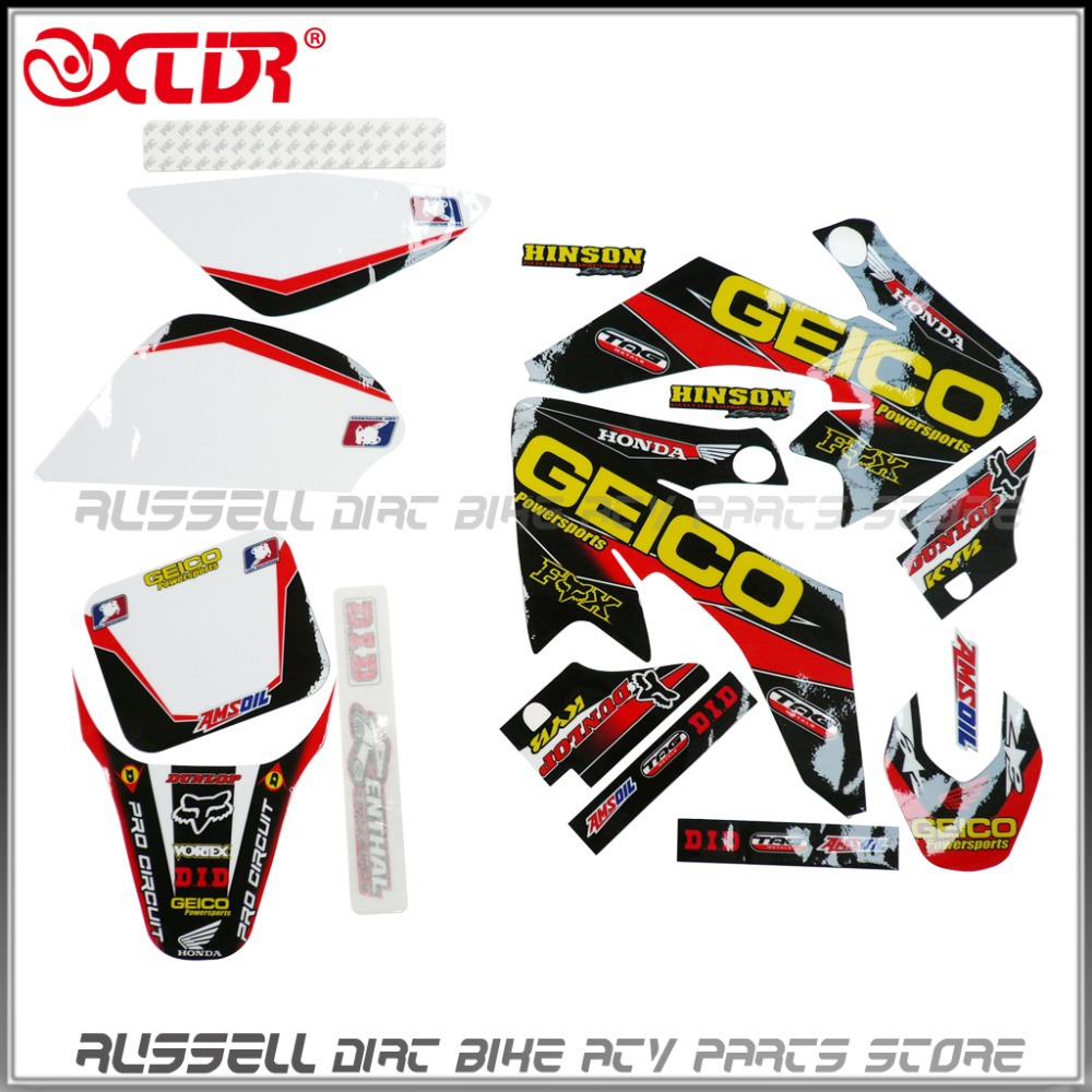 Yamaha bike sticker designs - Crf50 Sticker Graphics For Motorcycle Honda Crf50 Dirt Pit Bike Style Parts Spare