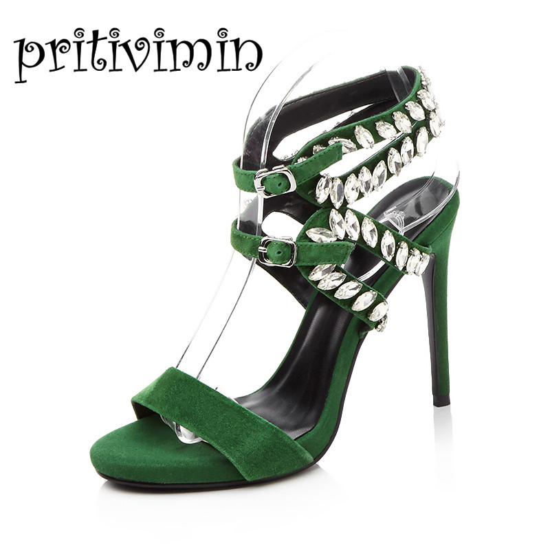 Женские летние пикантные босоножки; Цвет черный, зеленый; женские туфли гладиаторы с острым носком, с ремешком на щиколотке, на тонком высок