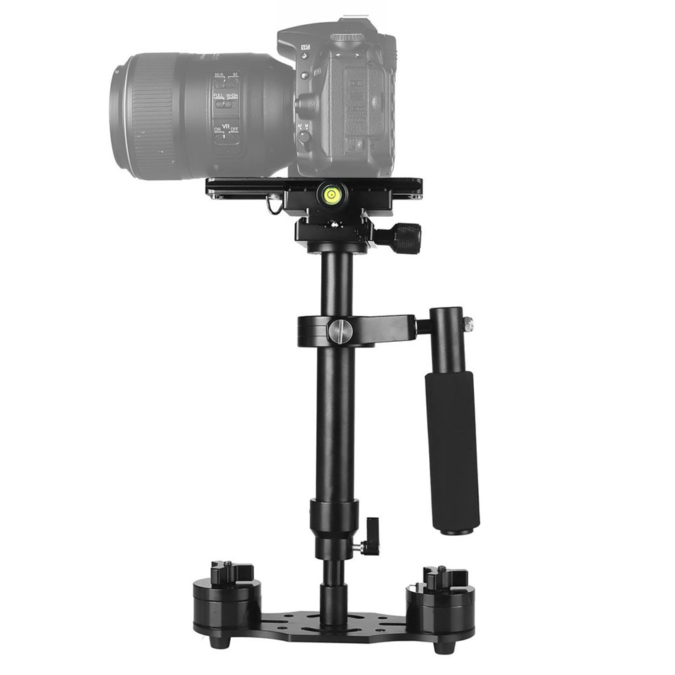 Portable 24/60cm Handheld Camera Stabilizer With 1/4 3/8 inch Screw Quick Shoe Plate For Camera Video DV DSLR