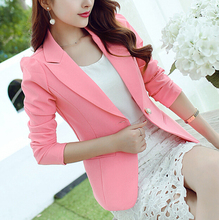 New Women Blazer Spring Slim Top Elegant Single Button Short Design clothes Blazer Suit Female Suit & Women Work Wear