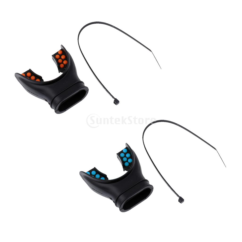 2 Pieces Adult Scuba Diving Snorkel Regulator Universal Silicone Mouthpiece with Color T ...