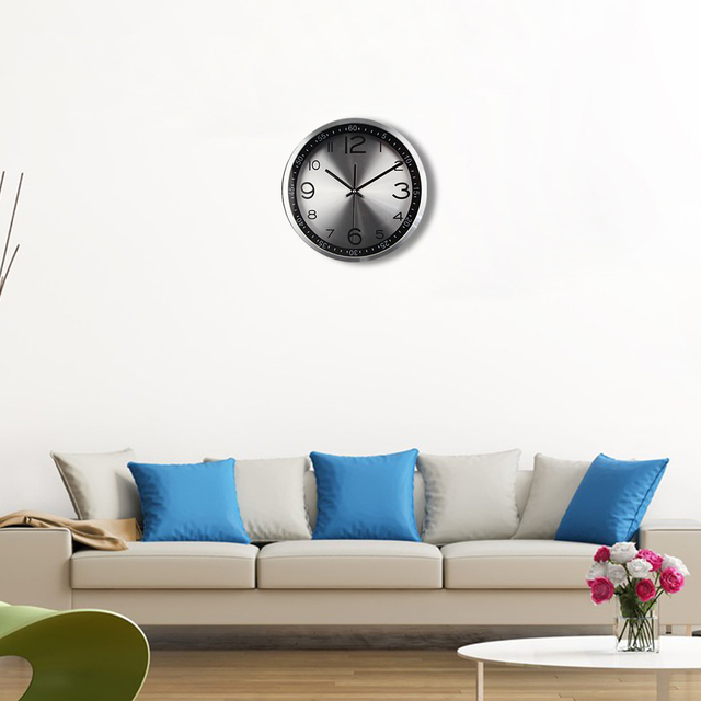 Top Quality Silent Vintage Clock Quartz Metal Wall Clock Modern Wandklok with Luxury Highlight Frame Wall Watches Quiet