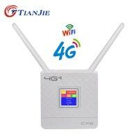 TIANJIE RJ45 WAN/LAN Port 4G LTE Unlocked 300Mbps CPE wireless WIFI Router with 2 External Antennas Hotspot Modem sim card slot