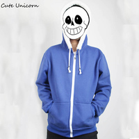 Undertale Sans Papyrus Hoodie Blue Coat Cosplay Costume Cotton Fleece Hoodies Sweatshirts Autumn Jacket Casual Boys