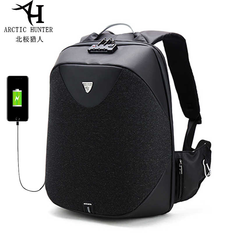 609f910cd9 Men 15.6 Laptop Backpack USB Charging Backpack Anti Theft School Backpack  Waterproof Male Mochila Casual Travel