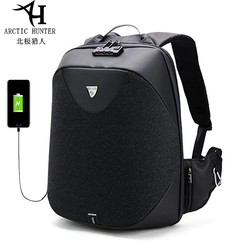 ARCTIC HUNTER Anti Theft Waterproof USB Men 15.6 inch Laptop Backpack With <font><b>TSA</b></font> Customs Lock Notebook Travel Bag For Male 2019 image