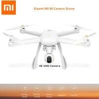 Оригинальный Xiaomi Mi Drone WI FI FPV 4 К UHD Камера RC quad вертолет Drone 3 оси карданный вертолет HD запись видео коснитесь к полету