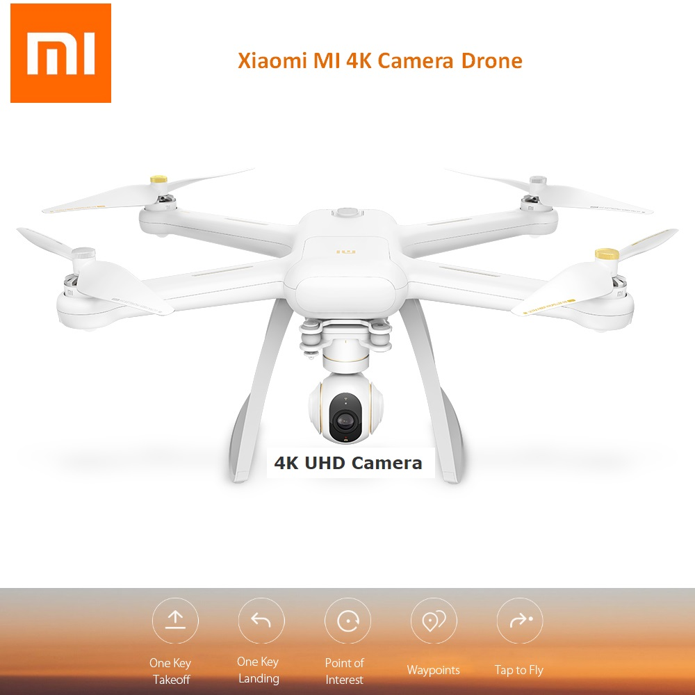 Original Xiaomi MI Drone WIFI FPV 4K UHD Camera RC Quad-copter Drone 3-Axis Gimbal Helicopter HD Video Record Tap to Fly original xiaomi mi drone english version wifi fpv with 4k camera 3 axis gimbal hd camera for rc camera drones accessories