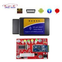 Süper Elm327 Bluetooth Adaptör OBDII OBD2 V1.5 ELM 327 V 1.5 Araba Kod Tarayıcı Android Tork Otomatik Teşhis-için aracı 50 adet