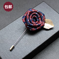 20 Colors Hot Sale Lapel Flower Mental Leaf  Handmade Boutonniere Stick Breastpin Pin Mens Accessories For Wedding