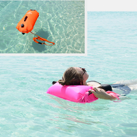 High Visibility Waterproof Inflatable Safety Swim Buoy Tow Float Swimming Dry Bag Waist Belt for Open Water Swimming 2 Colors