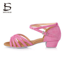 Promotion High Quality Tango Brand New Latin Dance Shoes For Kids Girls Women Children Ladies Ballroom Dancing Shoes Girls 3.5cm