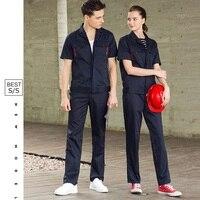 Maintenance Service Men Women Repairman Work Clothes Mechanic Working Overalls Plus Size Long/Short Sleeve Workshop Suit,C3
