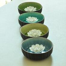 Керамики цветок лотоса диск лед трещины глазури линией , установленной благовония диск вставлен оптовая продажа Xiangxiang