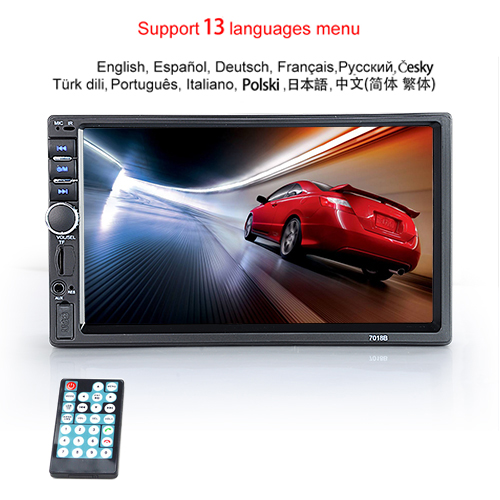 "Hipppcron Автомагнитола HD "" сенсорный экран стерео 2 Din Bluetooth FM ISO мощность SD USB Aux вход Mp5 плеер нет или с камерой - Цвет: Type 1"