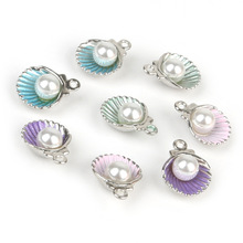 Shell-Alloy Charm-Pendants Earring Jewelry-Findings Fit-Bracelet Necklace Diy Women Enamel