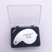 40x 25mm Power Jeweler Illuminated Loupe LED Loop Magnifier Magnifing Glass