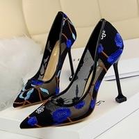 Women Pumps 2018 New Arrivals Women Heels Summer Breathable Mesh High Heels Shoes Women Luxury Pumps