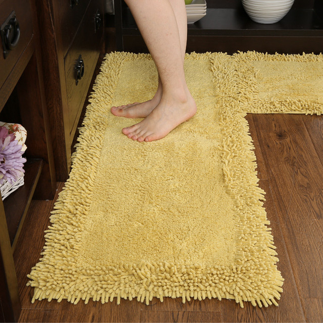 Area Door Mat Floor Rug Runner Non Slip Cotton Chenille Terry Doormat Entry Carpet Decor