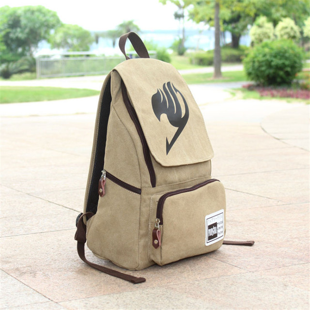 Fairy Tail Cosplay Preppy Style School Bag Canvas Backpack