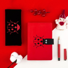 цена на Kawaii Journal Notebook Stationery PU Animal Ladybug Business Record A6 Diary Writing Notepad Planner School Agenda Office Gift