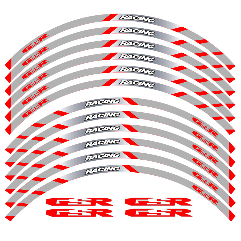 aro reflexivo roda faixa adesivo decalques da motocicleta suzuki gsr 05