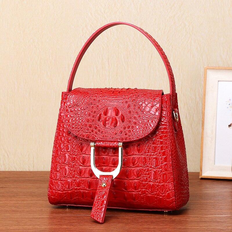 red Handtasche tasche Dame Geprägte Crossbody purple Echt Tasche Weiblichen Leder Teaegg Frauen Schulter blue Kuh Einzelnen Black BRqaT7In