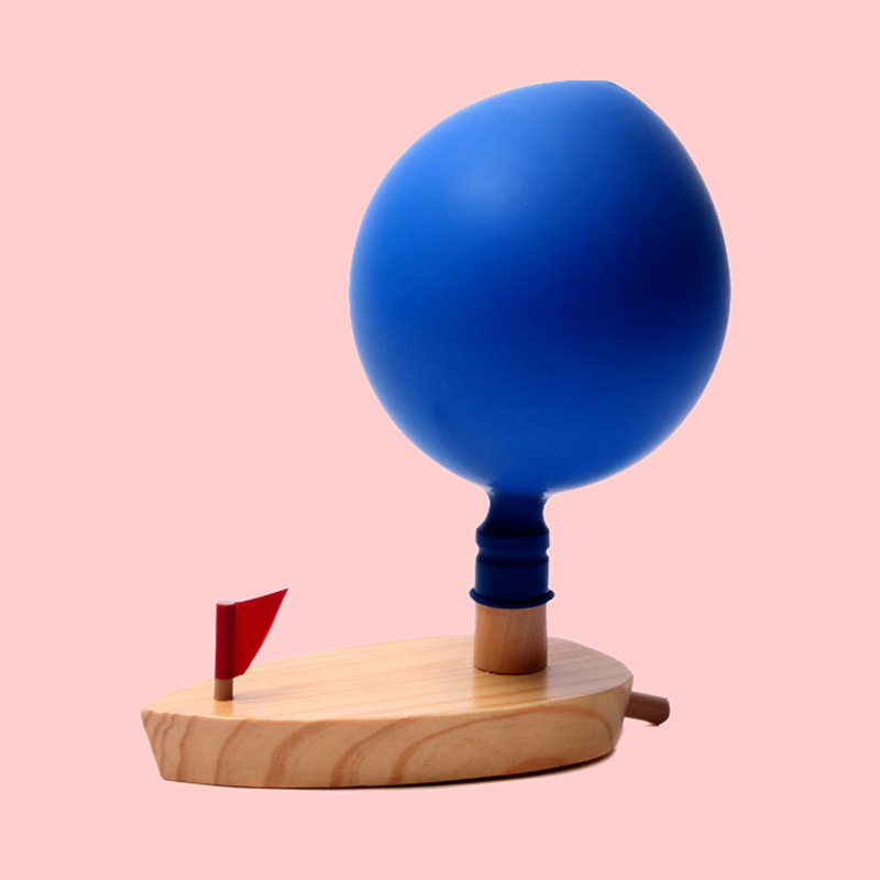 Balloon Power Boat Toys Wooden Bath Toys Gift Baby Bath Toy For Children ...