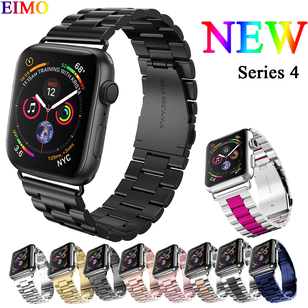 EIMO Stainless Steel Band Strap For Apple Watch 4 Iwatch band 4 44mm 40mm Classic Link Bracelet Wrist Belt Watchband AccessoriesEIMO Stainless Steel Band Strap For Apple Watch 4 Iwatch band 4 44mm 40mm Classic Link Bracelet Wrist Belt Watchband Accessories