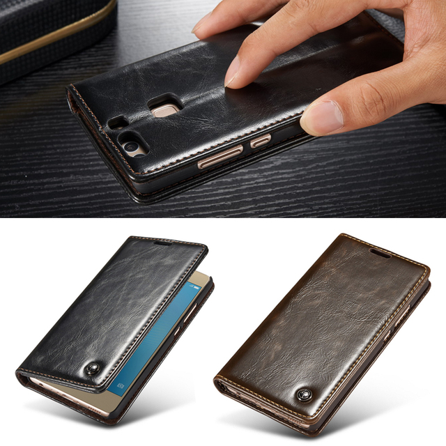 timeless design 096ee abd08 US $12.89 |Huawei P9 Lite Case Luxury Genuine Leather Magnetic Flip  Original Phone Cases For Huawei P9 Case P9 Lite Cover Stand Phone Case-in  Flip ...