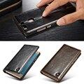 Huawei p9 lite case lujo tirón magnético de cuero genuino original case cajas del teléfono para huawei ascend p9 p9 lite cubierta case