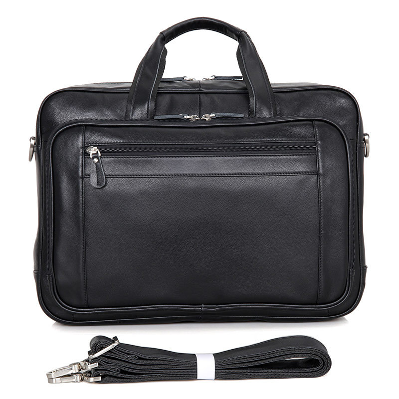Fashion Genuine Leather Business Briefcase Laptop Handbag Shoulder Messenger Bag Briefcase High Capacity Crossbody Travel Bag danjue genuine leather men travel shoulder bag double zipper designer crossbody bag business fashion real leather briefcase bag