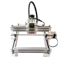 Assembled New LY 10W laser 10000MW diy laser engraving machine 20*17cm metal engraver marking machine metal carving