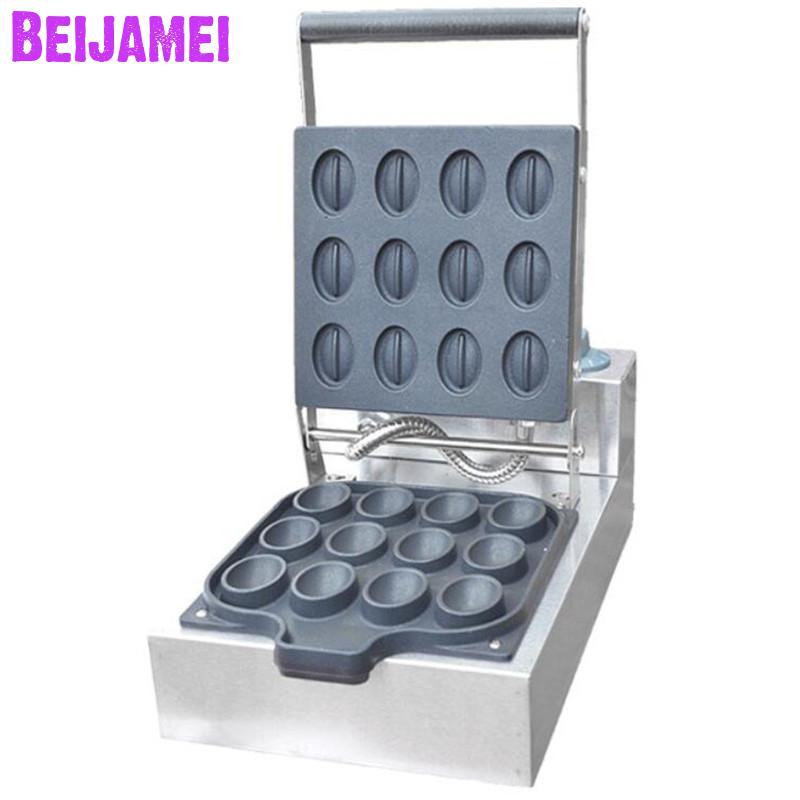 BEIJAMEI Wholesale Products Commercial Mini Coffee Bean Egg Waffle Maker Non-stick Coffee Beans Waffle Cake Making PriceBEIJAMEI Wholesale Products Commercial Mini Coffee Bean Egg Waffle Maker Non-stick Coffee Beans Waffle Cake Making Price