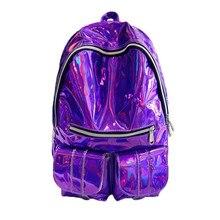 Мода 2017 г. девочек школьная сумка рюкзак женщины рюкзак женская Лазерная яркий Упаковка колледж путешествия рюкзак Mochila Feminina