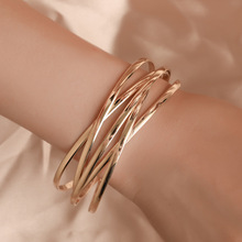 Fashion Geometric Gold Hollow Indian Cuff Bangles Bracelets