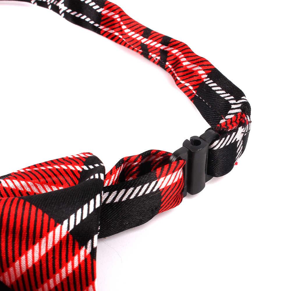 Cravate en caoutchouc pour filles et garçons cravate en Polyester à carreaux pour enfants costumes cravates minces hommes cravate Gravatas